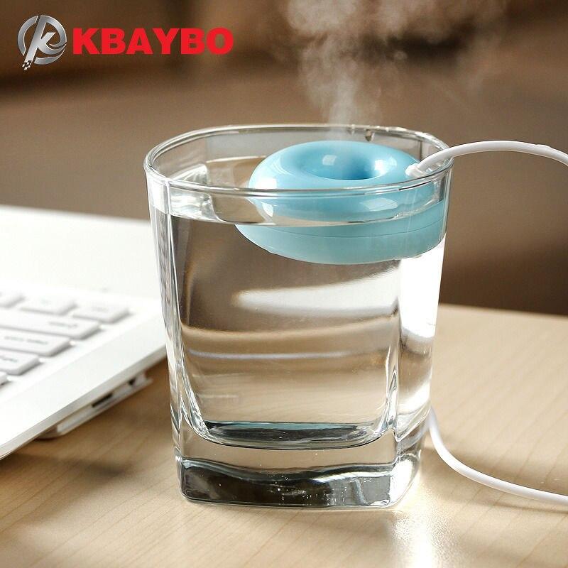 KBAYBO Mini USB Air Humidifier Donuts Purifier Aroma Diffuser Steam