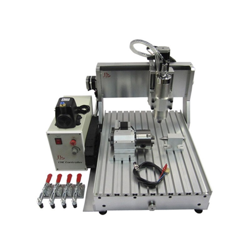 Máquina de grabado LY CNC 3040 Z-VFD 800W Mini fresadora de madera para Metal de madera con interruptor de límite