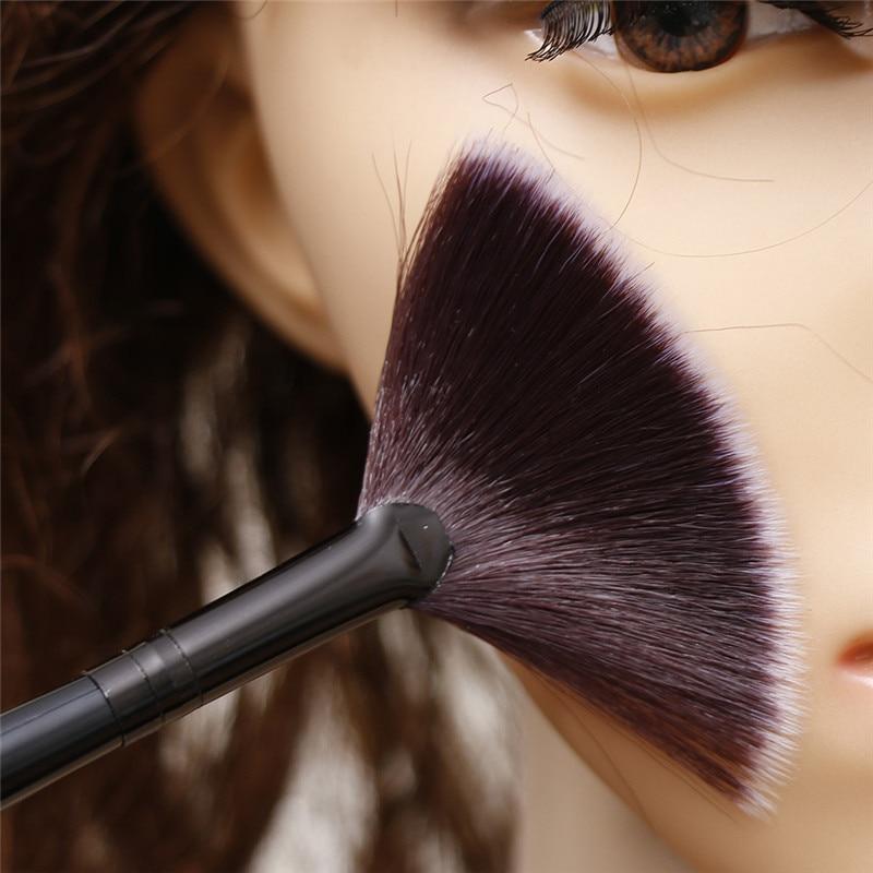 Slim Fan Shape Makeup Brushes Powder Concealer Highlighter Highlighting Professional Women Make up B