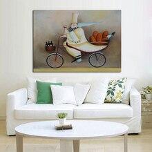 Peintures à lhuile sur toile peintes à la main   Stickers muraux de joyeux cuisinier pour la décoration de la maison, nouveau Design, tableaux dart décoratifs