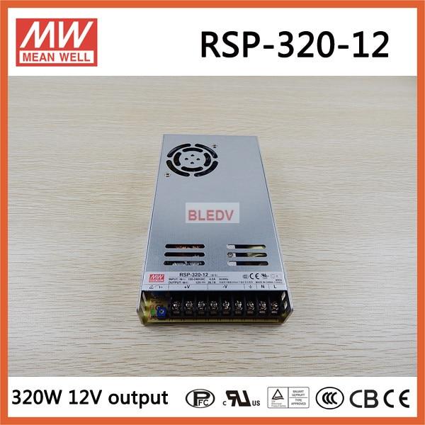 Moyenne bien RSP-320-12 320 W 26.7A 12 V meanwell alimentation avec fonction PFC