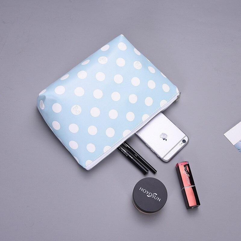 10PCS/LOT Waterproof Makeup Bags Cosmetics Pouchs Travel Ladies Pouch Women Cosmetic Bag Female Zipper Portable Fashion Make Up