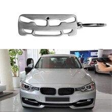 2019 New Silver Zinc Alloy Metal Car  Key Chain Key Ring  For BMW 3 Series Key Holder