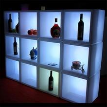 LED night light Color Remote control bar KTV decor night lamp Square Locker Rack Waterproof living room lighting luminaria