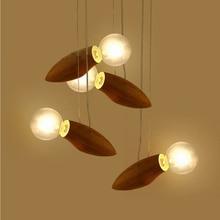 Lampe suspendue en bois à cordon, design moderne à la forme dabeilles, luminaire décoratif pour un loft, un balcon ou des escaliers
