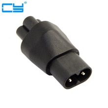 IEC320 IEC 320 C8 Plug to C5 Receptacle Cloverleaf Power Supply Mains Adapter Convertor Adapter