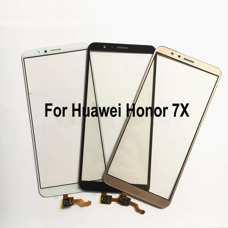 Para Huawei Honor 7X Honor7X BND-AL10 Panel táctil digitalizador pantalla cristal Sensor táctil Panel táctil con Cable flexible