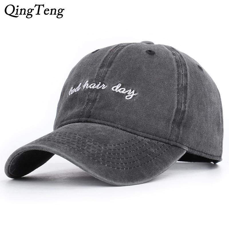 Cotton Embroidered Baseball Cap Men's Snapback Hats For Women Hip Hop Gorras Bone Bad Hair Day Cap Washed Baseball Cap Dad Hat