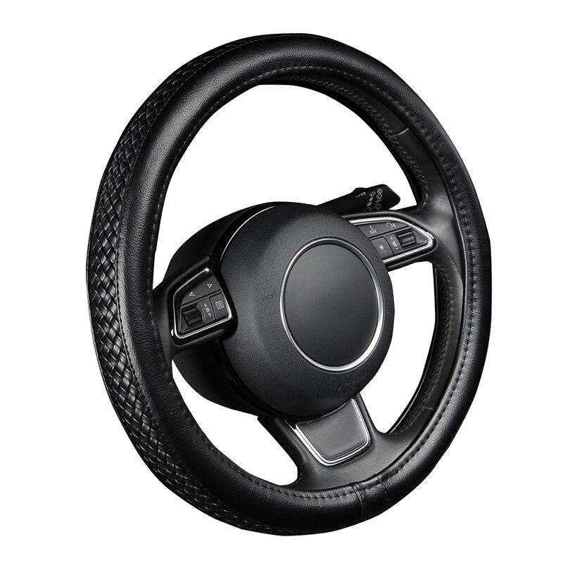 LCRTDS, cubierta de cuero de PU para volante para Seat ibiza 6l leon 1 2 leon fr toledo 2 tesla model s model x