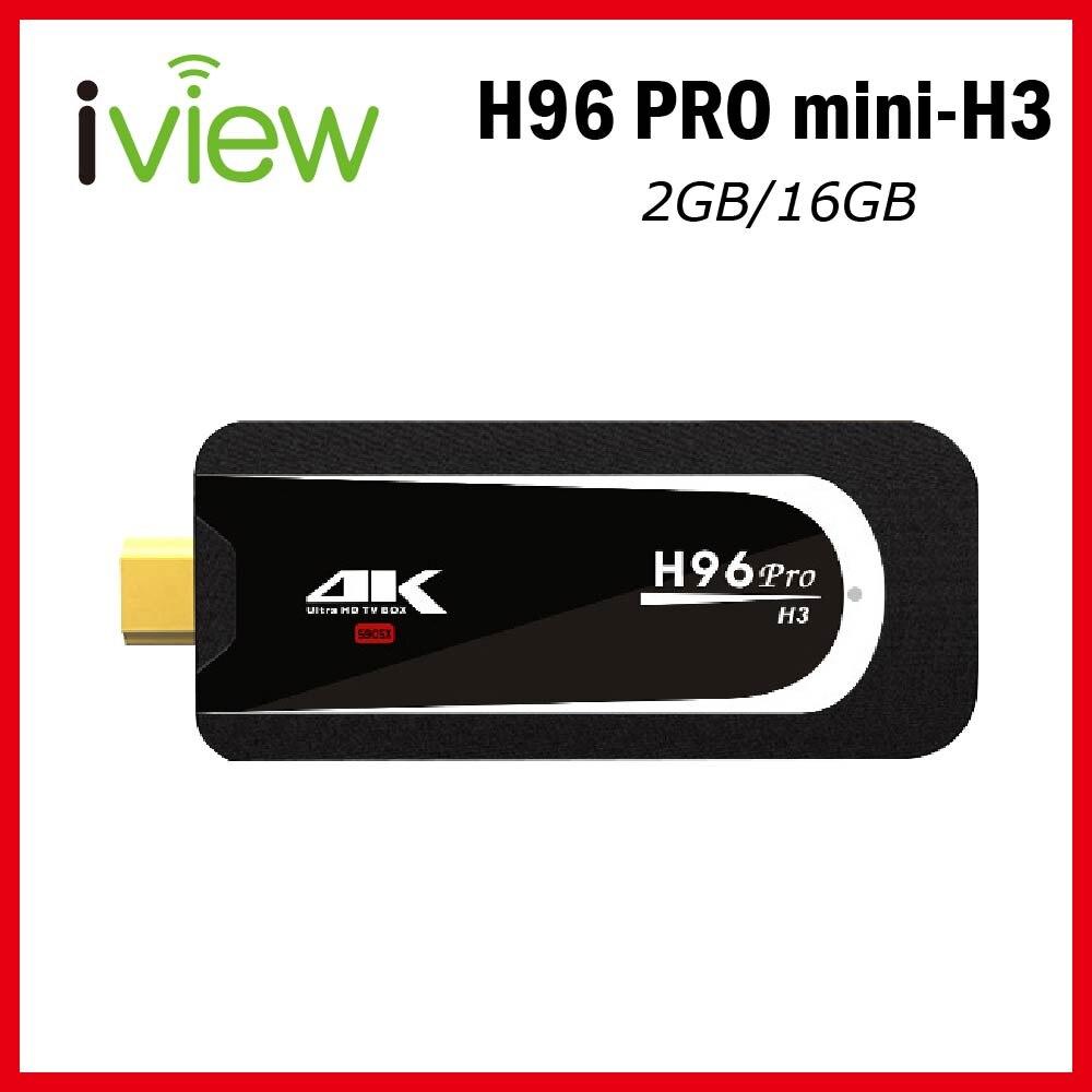 H96 Pro mini H3 mini TV dongle Android 7,1 Amlogic S905X Quad Core 2GB RAM 16GB ROM 2,4G/5G WiFi BT 4,0 4K mini Android TV Stick