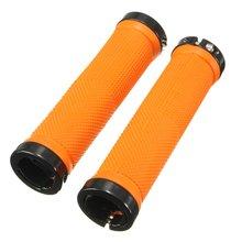 1 par alça de bicicleta mtb bmx guiador apertos laranja