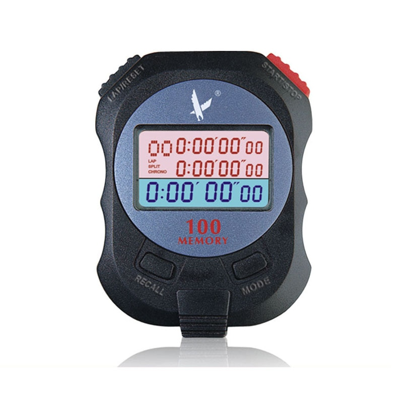 100 memory Electronic Stopwatch Digital Countdown timer professional running stop watch Sports track