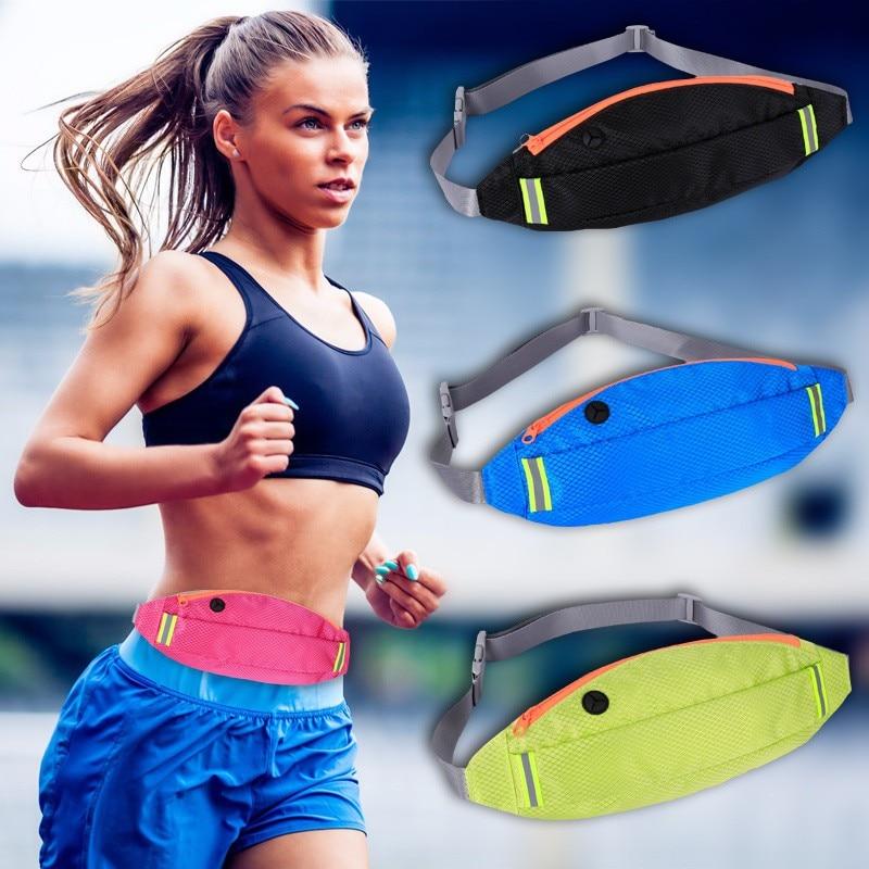 "New Women Man Gym Bags Multifunction Running Bag Ultralight Waterproof 6.2"" Mobile Phone Belt Waist Fitness Cycling Bag"