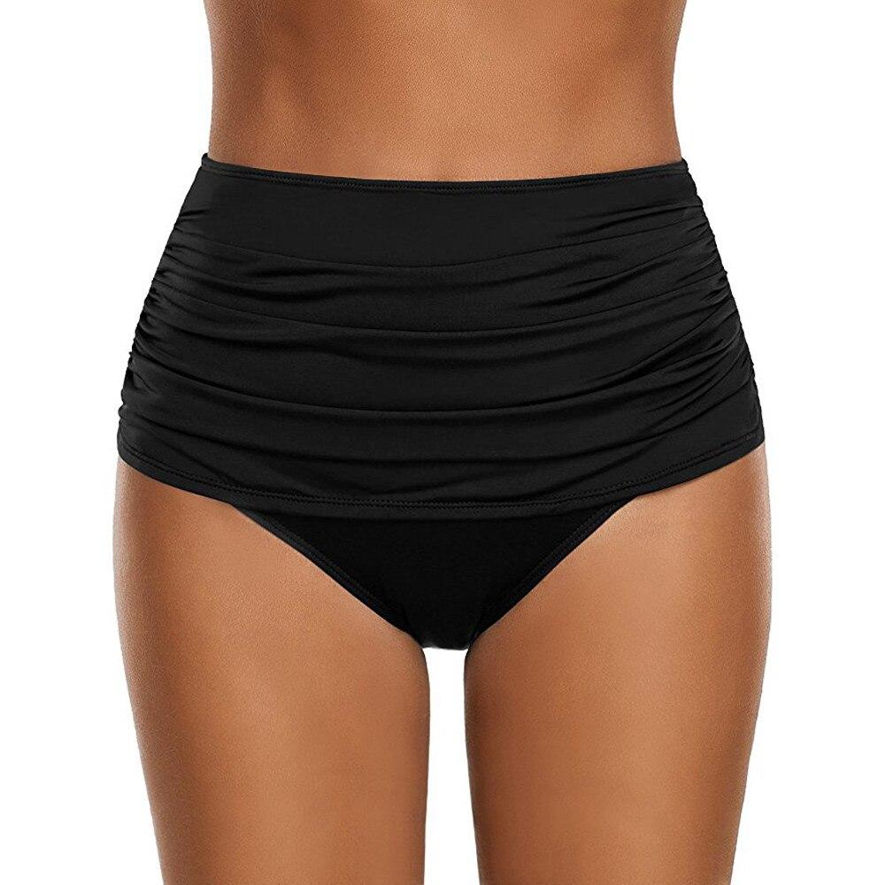Separate Female Swimsuit Bottom Bikinis 2020 Mujer Underwear High Waist Swim Panties Solid Printed Women Swimming Pants #L5