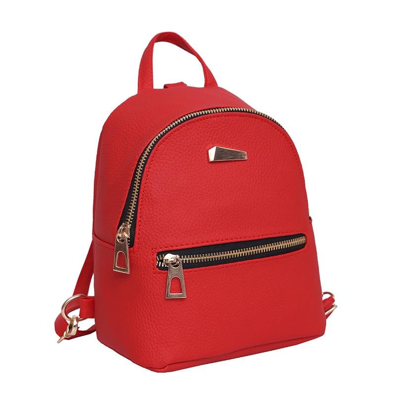Women Backpacks Bags Leather Backpack Small Backpack Korean Wave Fashion Bag Leisure PU Shoulder Bag Female Student Bag