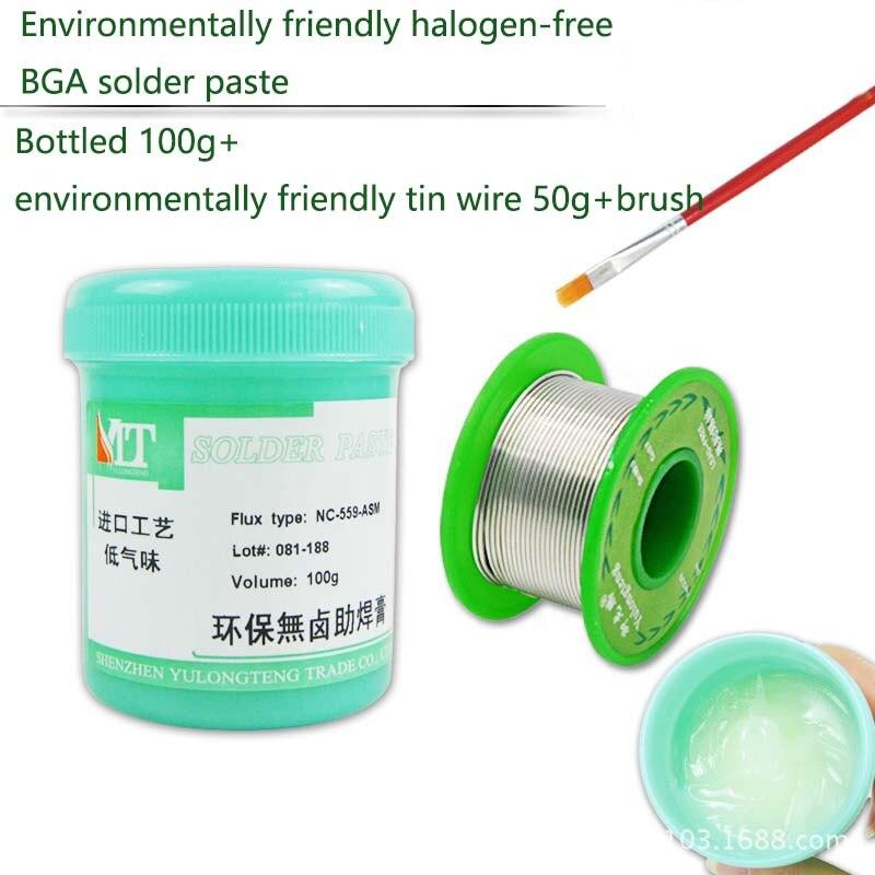 100g fluxo não-limpo que solda 559 smd halogênio-livre ambientalmente amigável bga solda graxa smt ferramenta de reparo chumbo-livre fio de estanho