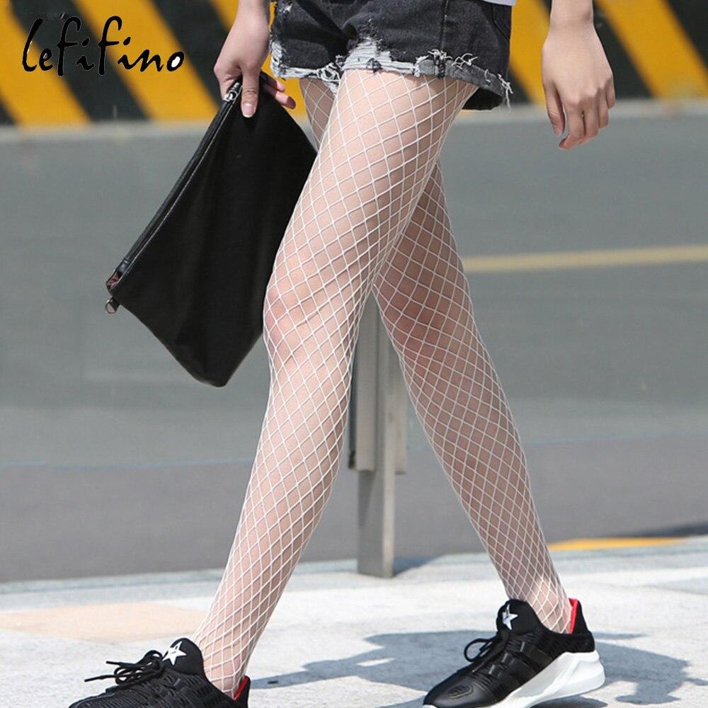 Pantimedias sexis caladas para mujer, medias de red, lencería blanca y negra, medias de red para club, medias de fiesta Ne28733