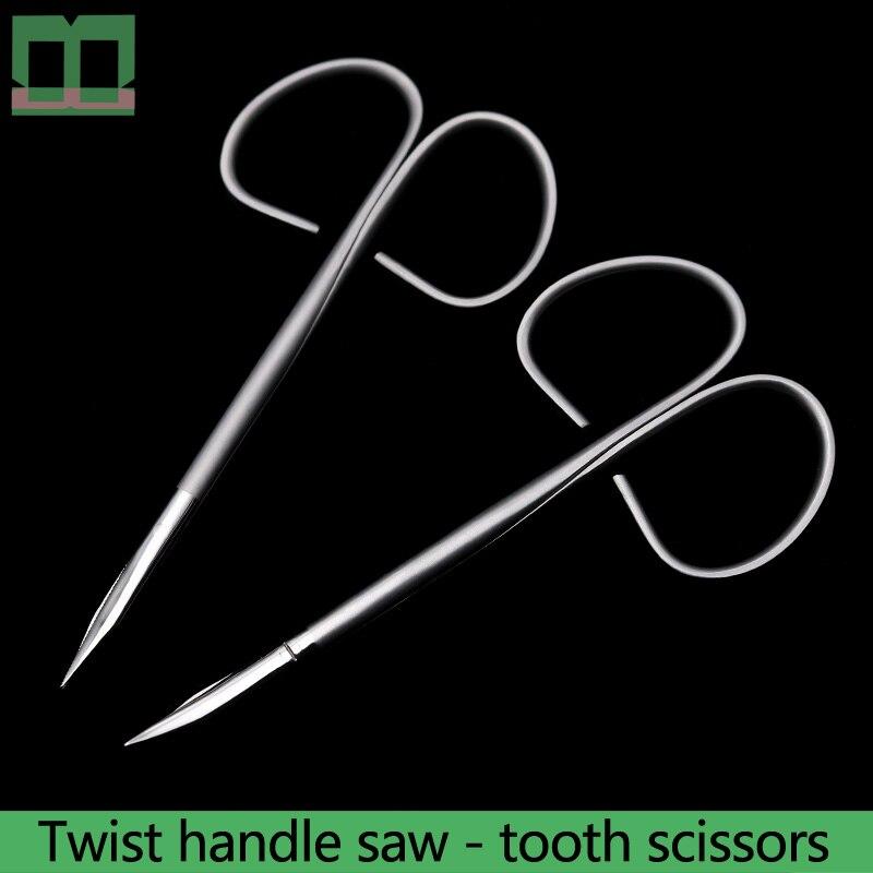 Офтальмологические рабочие ножницы из нержавеющей стали с прямой ручкой 10 см, поворотная ручка, ножницы для пилы, медицинские ножницы для м...