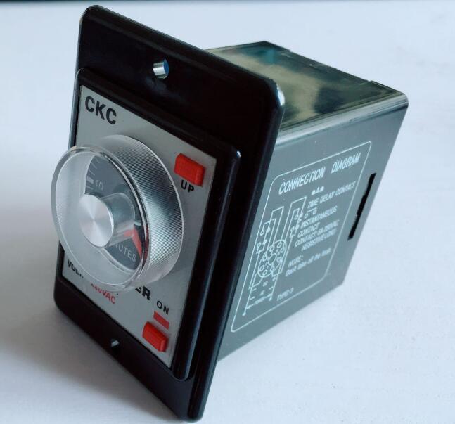 Relé de Tempo AH2-Y AC220V Power on delay timer relay tempo 8Pin 60 3 60 6 s s m m