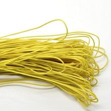 1 Roll (80M) DIY Lemon Yellow Waxed Rope Cotton Multifunction Jewelery Making Cord 1mm