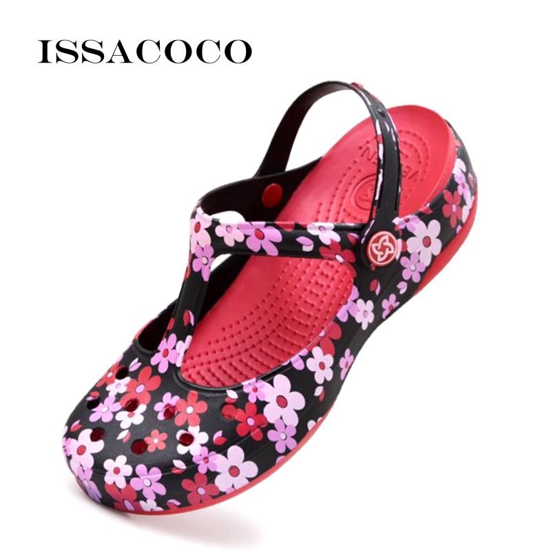 ISSACOCO Sandal Women Summer Ladies Sandals Flat Flip Flops Slippers Shoes Beach