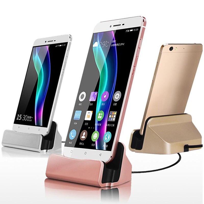Universal micro USB sobremesa carga de sincronización soporte de estación para Samsung Galaxy S3 S4 S6 S7 borde para teléfono Android