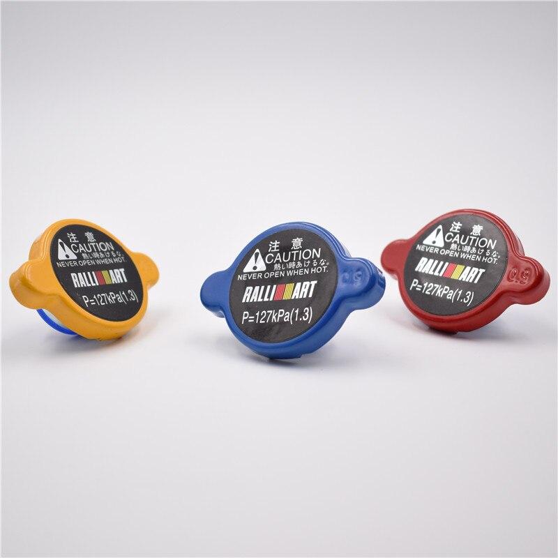 Tapa de radiador de alta presión Ralliart Amarillo/rojo/azul de 15mm de gran tamaño para MITSUBISHI Diamante Outlander Evolution