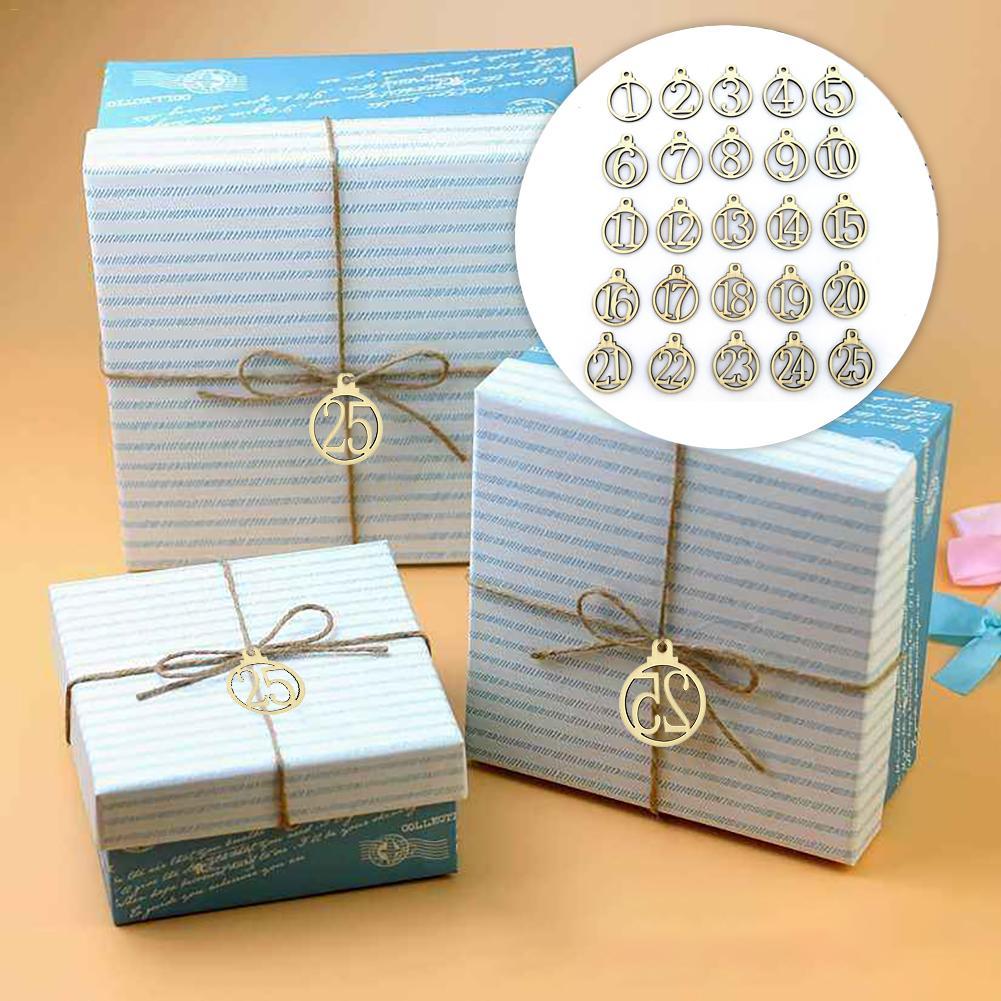 25 uds. De adornos digitales de madera, etiquetas de regalo de Navidad, etiquetas de regalo digitales de madera, colgantes redondos para hacer joyas de moda, etiquetas de regalo