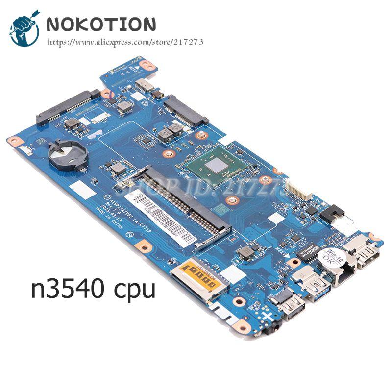 NOKOTION 5B20J30787 AIVP1 AIVP2 LA-C771P لينوفو ideapad 100-14IBY اللوحة المحمول 14 بوصة SR1YW N3540 وحدة المعالجة المركزية