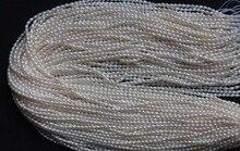 Topo real natural de água doce pérola 1.8-3mm natural branco pérola destaque moda pérola 37cm strand grânulos soltos jóias femininas