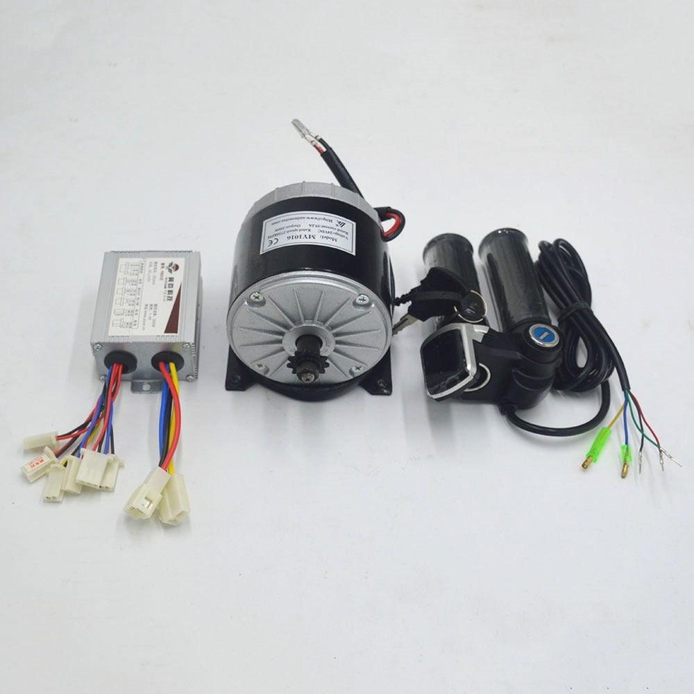 Kit de conversión de motor de bicicleta eléctrica de 24V y 350W, motor MY1016 para bicicleta eléctrica/scooter/Triciclo