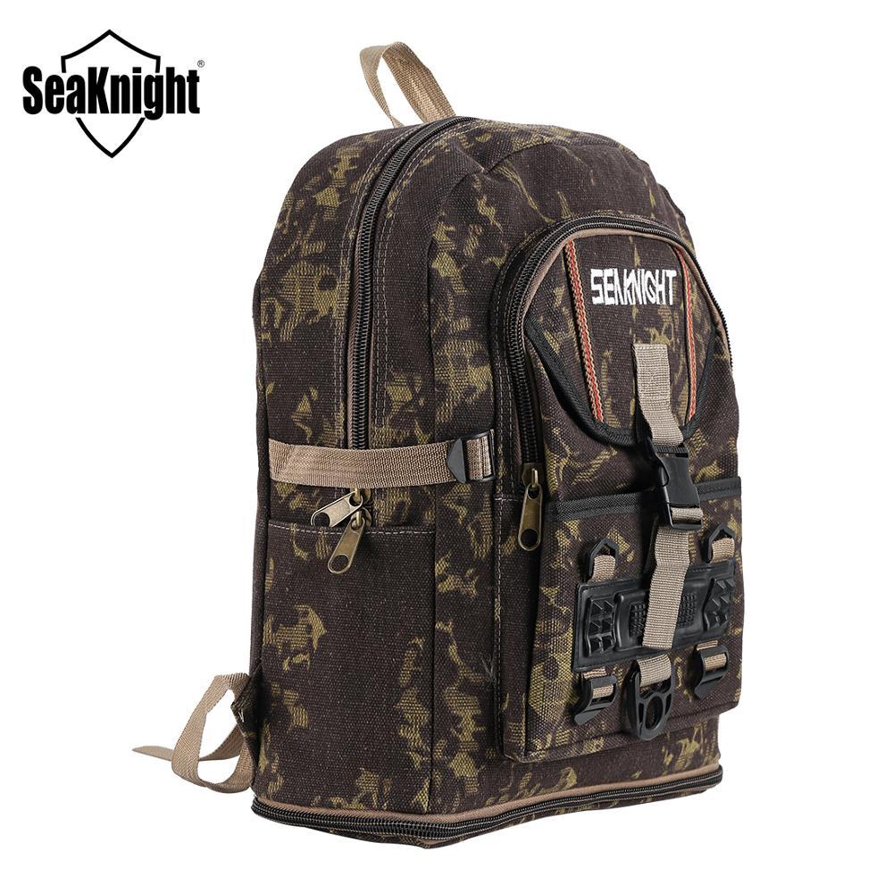SeaKnight SK006 bolsa de pesca 25L mochila de lona impermeable equipo de pesca al aire libre bolsa multifuncional bolsa 34*56*13cm camuflaje