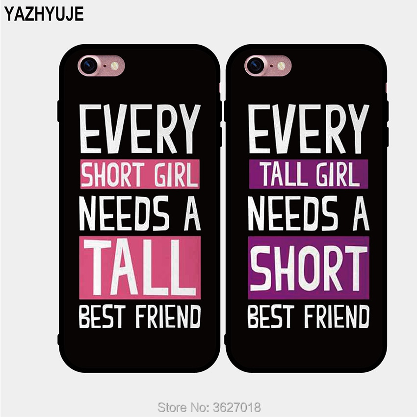 YAZHYUJE nuevo suave tpu pareja BFF regalo BFF mejor amigo teléfono caso para Iphone 7 8 6 6S Plus X XS MAX XR 5S SE cubierta trasera de silicona