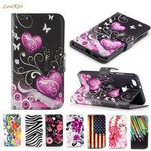 Leather Wallet Flip Case Voor Samsung Galaxy Gt S7562 S7580 J3 J5 J7 2016 A3 A5 2017 J2 Prime S3 s4 S5 Mini S6 Rand S7 J1 Cover