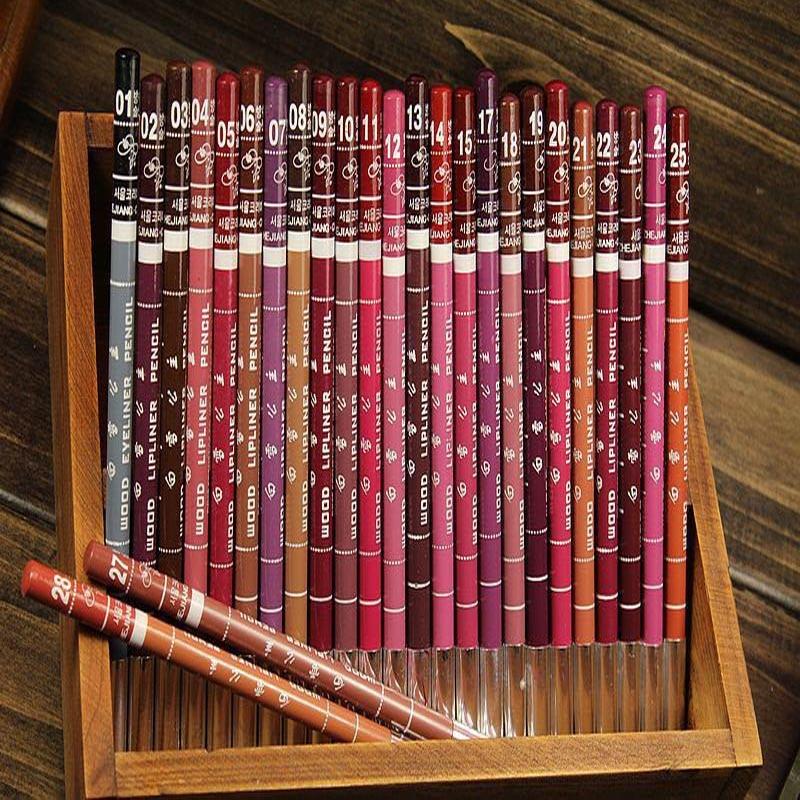 6 Stks/partij Fashion Brand Multi Kleuren Waterdichte Lip Liner Vrouwen Beauty Makeup Tools Lipliner Potlood Lipstick
