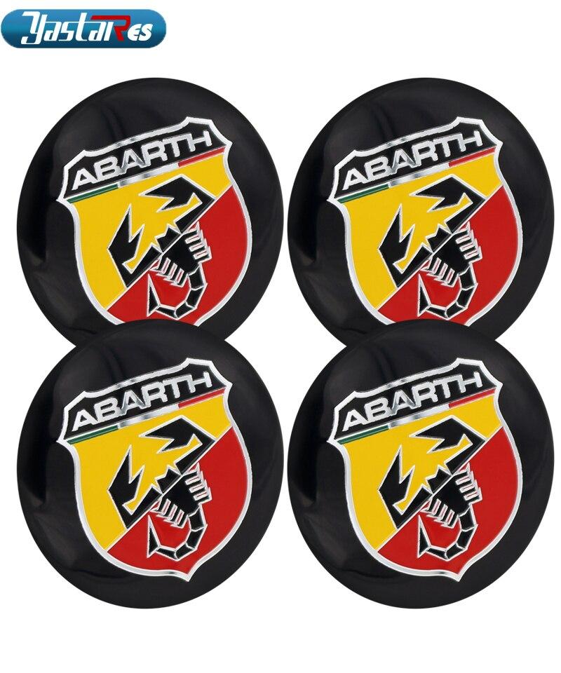 56.5mm Abarth Car Emblem Wheel Center Hub Cap Badge wheel Decal Sticker Car Accessories For FIAT 124 125 500 695 OT2000 Coupe