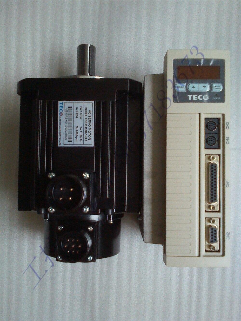 Nuevo original TECO cnc Kit de motor servo 2kw TSB13202B-3NTA + TSTEP50D