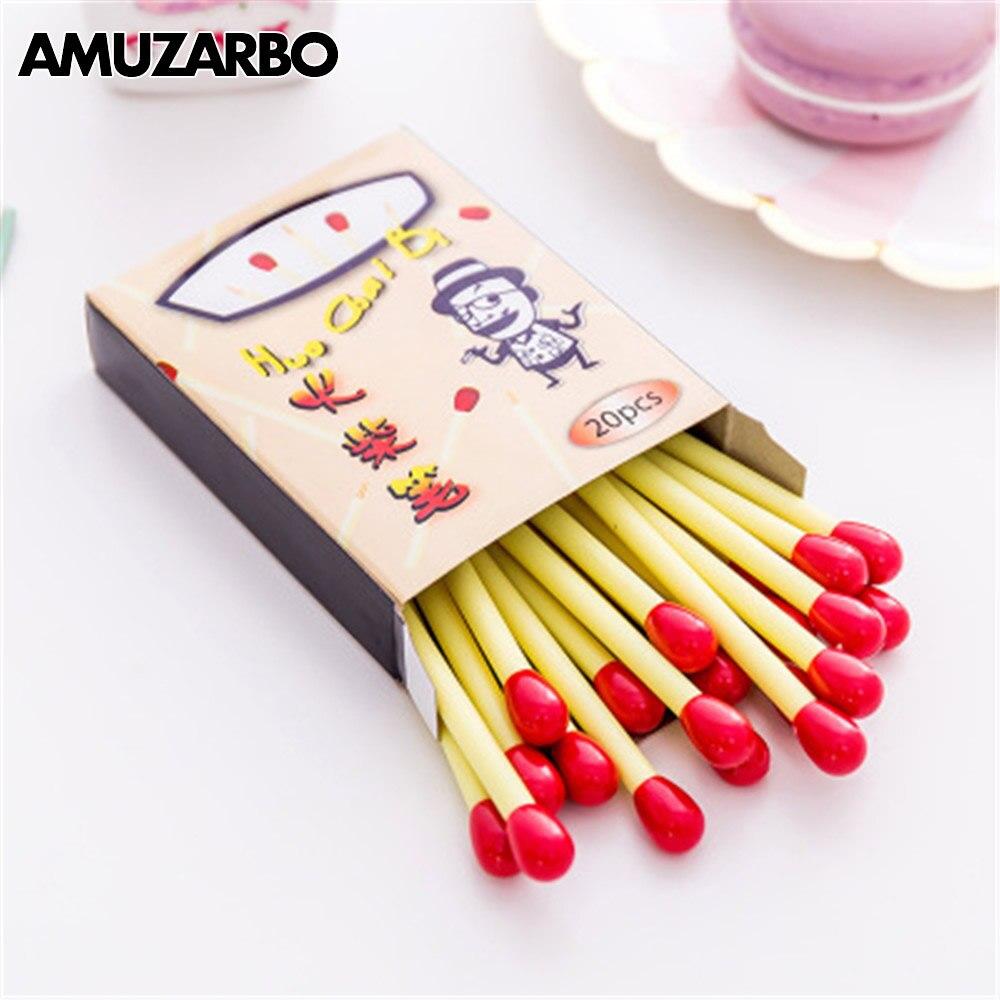 1 pcs Cute Mini matchstick Pen Creative School Office Ballpoint Pens matche styling freebie funny gift blue
