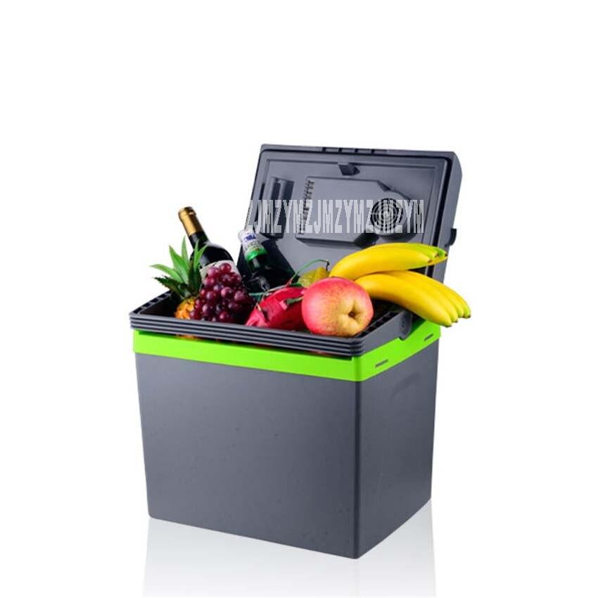 30л Портативный термоэлектрический холодильник для дома и автомобиля 12 В/220 В охладитель коробка подогреватель двойного назначения Высокая емкость дорожный холодильник 48-55 Вт