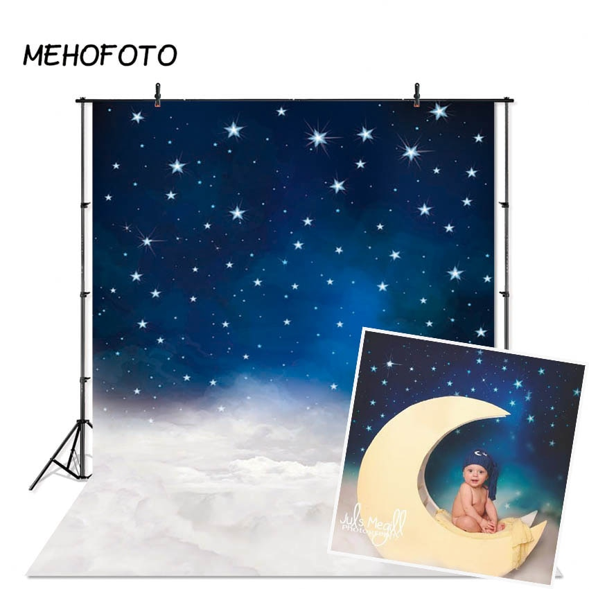 Night Space Backdrops for Photography Newborn Little Star Sky Photo Shoot Photographic Studio Backgrounds Props