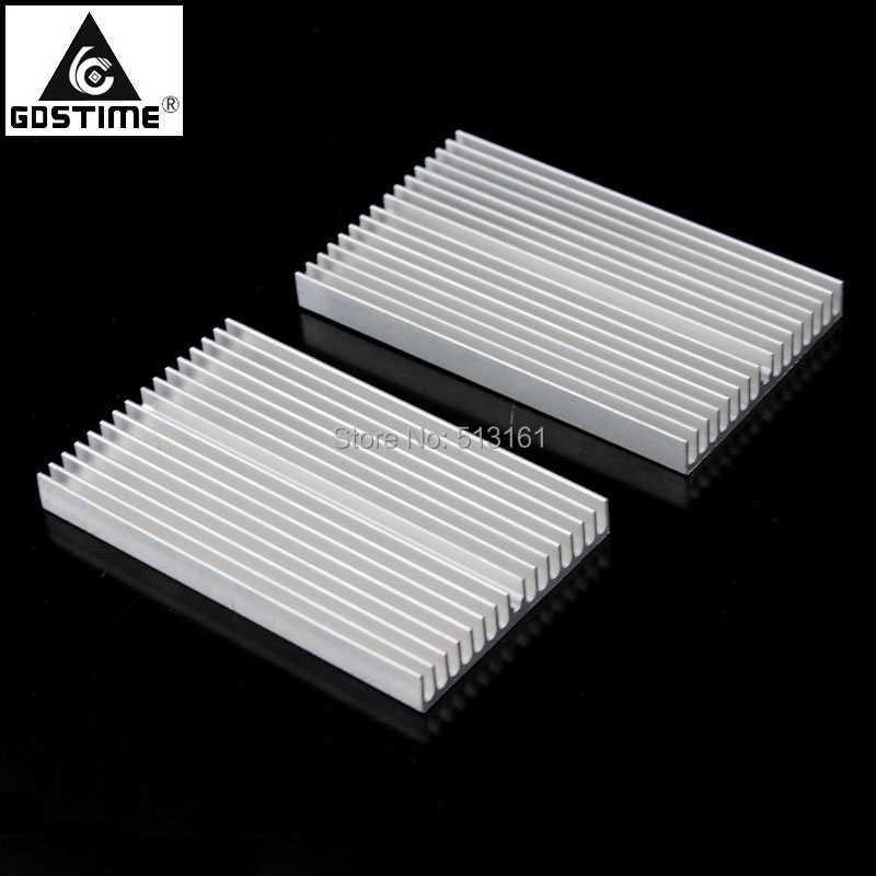 30PCS Gdstime 100mm 100x60x10mm Extruded Aluminum Heatsink LED IC Chip VGA Memory