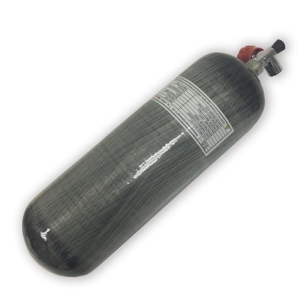Tanque de uso PCP de Paintbal AC10911, tanque de buceo de cilindro de Gas de fibra de carbono 9L CE 4500psi para Airforce Condor M18 * 1,5 Pcp Acecare