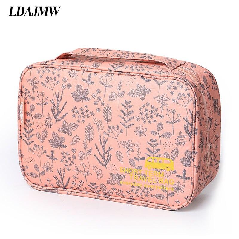Bolsa organizadora colgante de cosméticos de viaje resistente al agua LDAJMW, bolsa de aseo plegable, bolsa de maquillaje portátil para hombres y mujeres