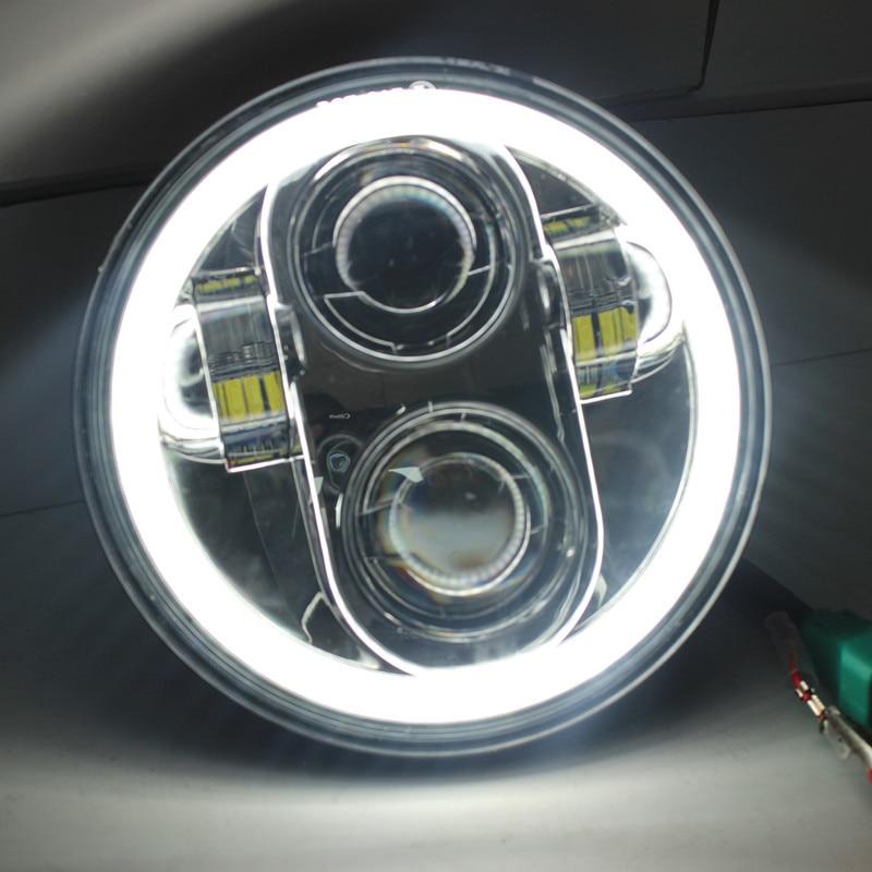 """1 x faro LED negro cromado de 5,75 """"HID haz alto/bajo 5 3/4"""" faro delantero para proyector de faros de 5,75 pulgadas"""