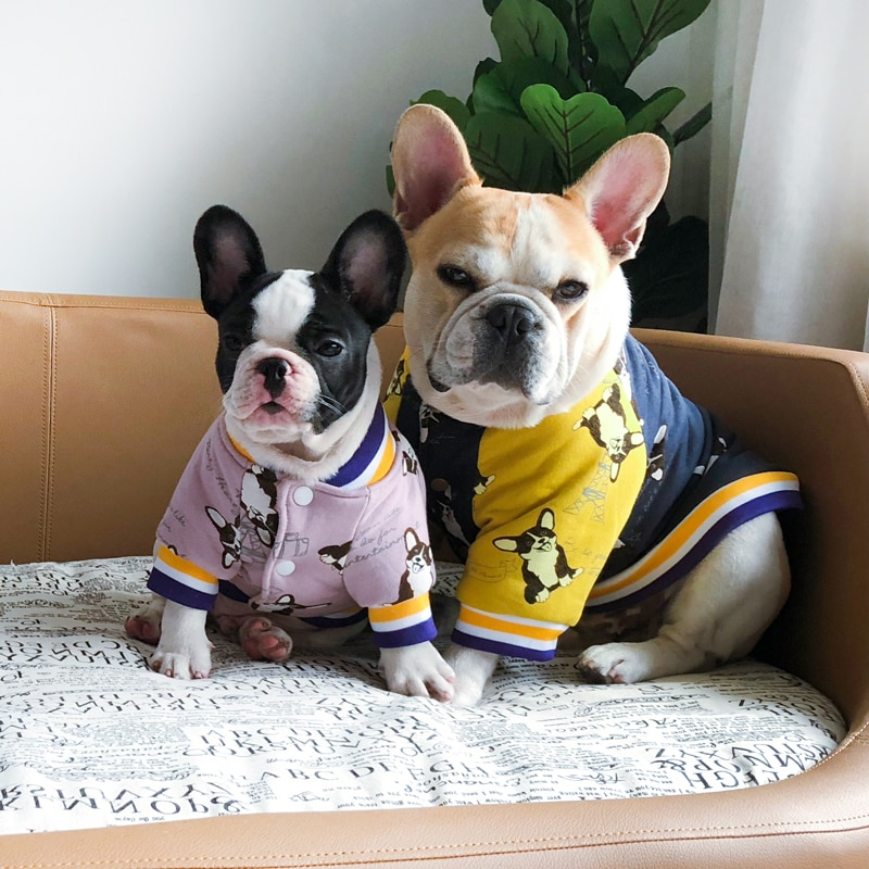 Hawaii Floral Print Cold Season Dog Coat Clothes Cotton Padded Warm Pet Jacket Fashion French Bulldog Jacket