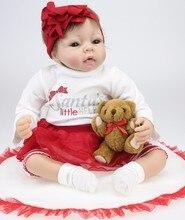 Silicone adorable 22inch  Lifelike Bonecas Baby newborn realistic lol princess doll bebe cute dolls babies toy bedtime doll
