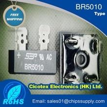 BR5010 IGBT وحدة جسر RECT 1 المرحلة 1KV 50A BR BR5010-G