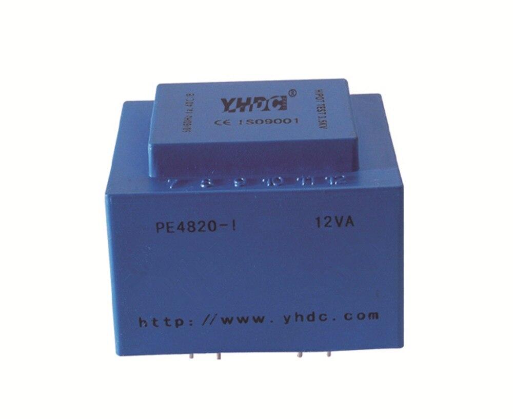 PE4820-I Power 12VA ingang 110 V Uitgang 2*15 V 50-60Hz Vaccum Epoxy Ingekapseld PCB Lassen isolatie Transformator