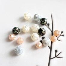 Mopa de mosaico natural de 8mm/10mm 2 unids/lote, mopa de moño perla, mopa de concha blanca, fabricación de joyas, hallazgos artesanales para mujer