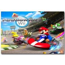 Affiche Super Mario Kart artistique   En tissu de soie, 13x20 24x36 pouces, images de jeu vidéo, pour salon, décoration murale 030